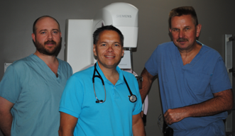 Three General Surgeons at TADH, Dr. Voogjarv, Dr. Labelle and Dr. Kelly