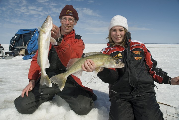 Family ice fishing adventures