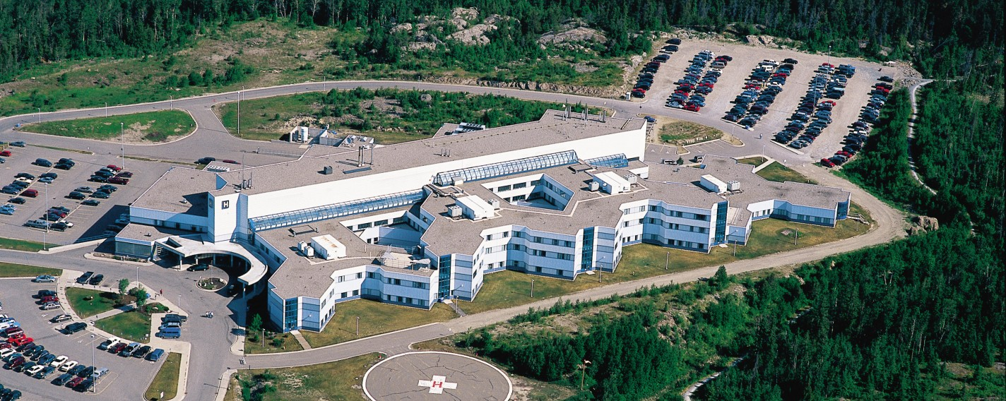 TADH aerial of the hospital